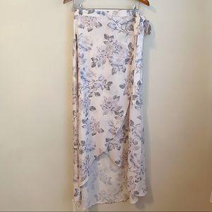 Mumu floral siren wrap skirt